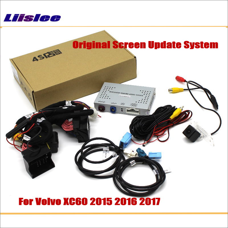 Liislee For Volvo XC60 2015 2017 Original Screen Update System Reversing Track Image Reverse Rear font