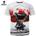 2016 Моды для Мужчин Досуг 3D Атомной Бомбы Творческая Футболка 3d Напечатаны короткий Рукав Футболки Майки Топы Футболка Homme Plus Размер M-XXXL