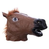 Latex Horse Head Mask Cosplay Halloween Party Costume Animal Cover Party Mask Halloween Mask Accessory
