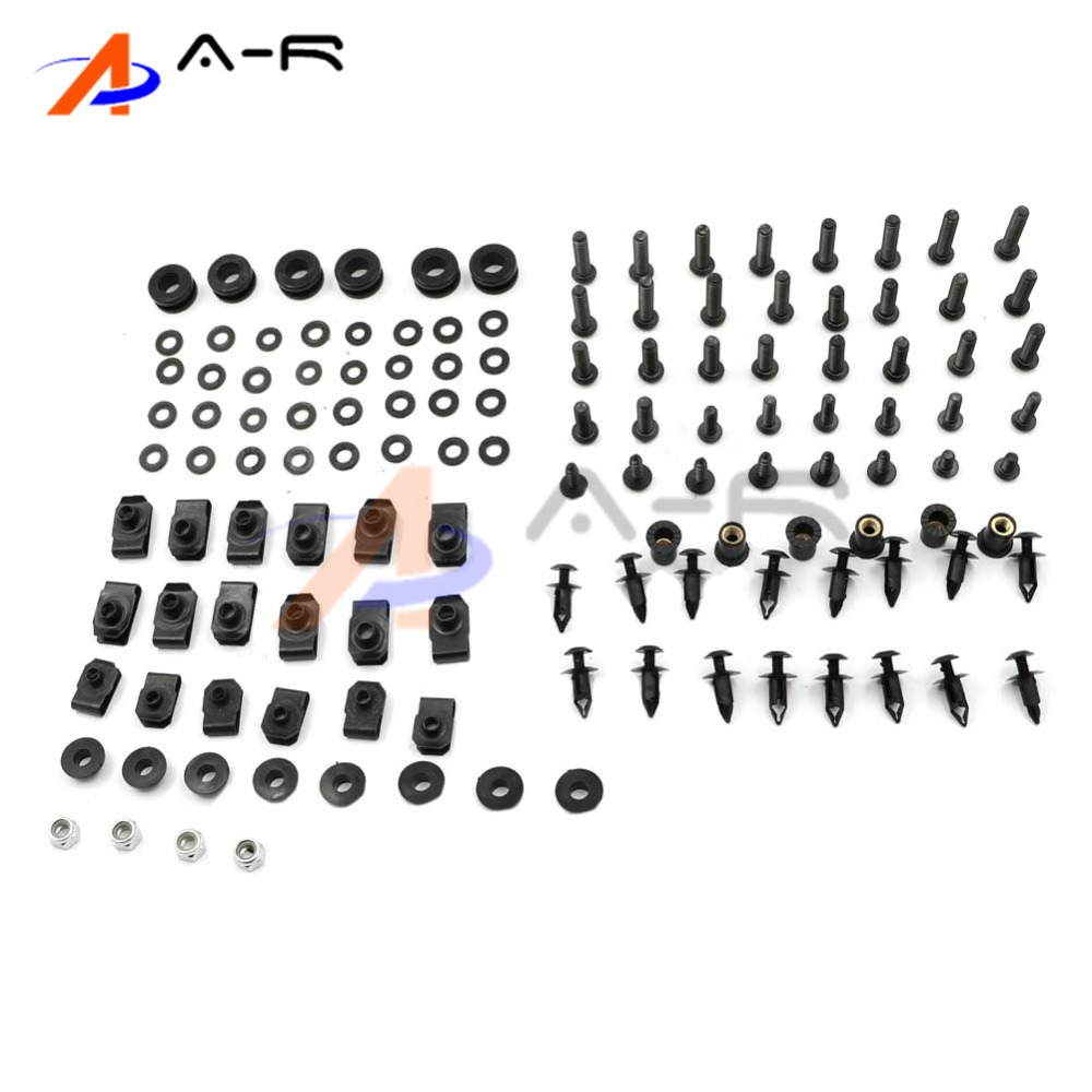 Complete Motorcycle Body Fairing Bolt Nuts Fastener Clips