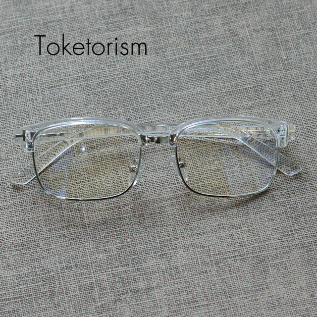 295fe8f4e8 Toketorism Personality retro gafas transparentes mujer hombre high fashion eyeglasses  frames with clear lenses 5992