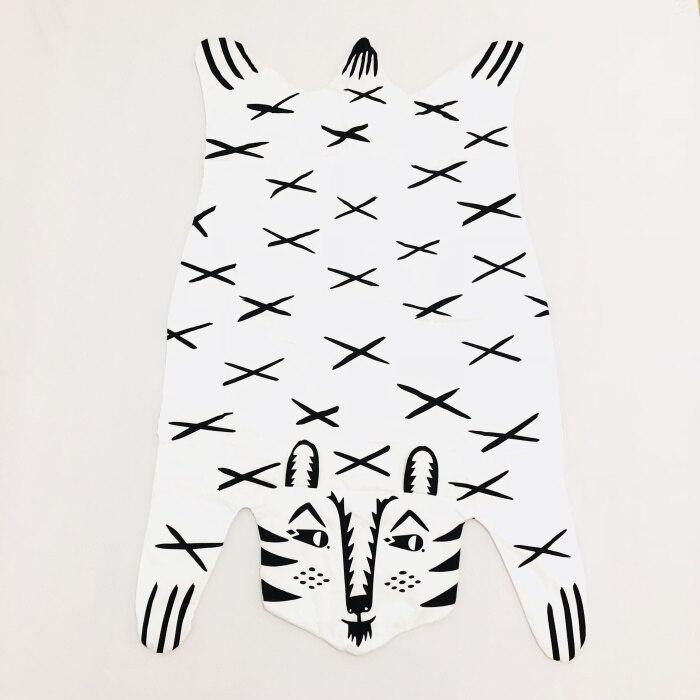 8 видов стилей модное мягкое детское одеяло игровой коврик детское одеяло-плед в виде медведя Тигр пеленальный коврик животных ковер теплый медведь игровые коврики осень-зима - Цвет: Tiger