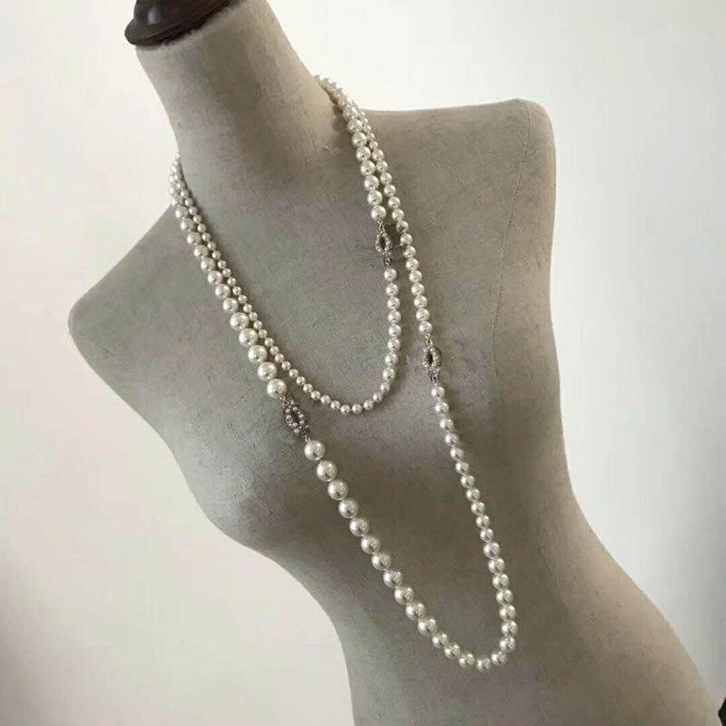 Bijoux fantaisie pour femmes Double tricot chandail chaîne C marque Vintage cuivre Design mode fête collier