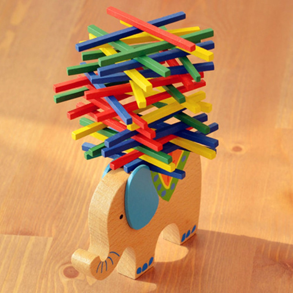 Cute Cartoon Beech Game Wood Balance Montessori Toys Animal Educational Elephant Camel Balancing Wooden Math Toys for Baby цена