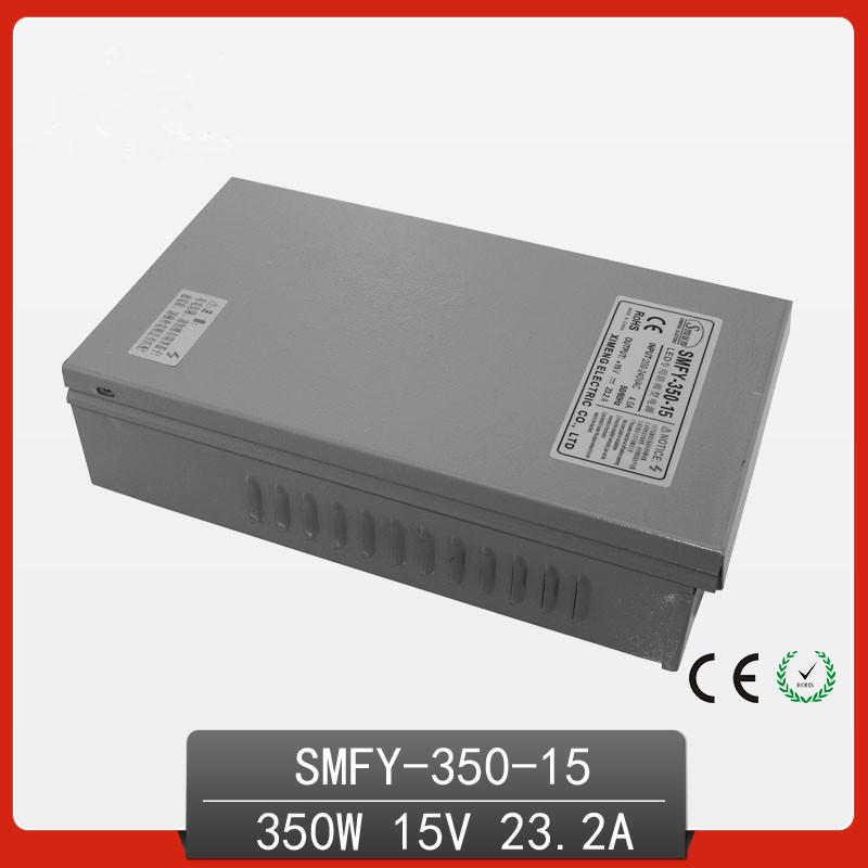 350W 15V 23.2A Rainproof outdoor Single Output Switching power supply smps AC TO DC for LED 145w 24v 6a single output switching power supply for led strip light ac to dc smps