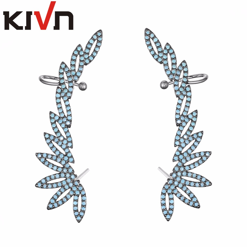 KIVN Fashion Jewelry CZ Cubic Zirconia Womens Girls Ear Cuff Ear Crawler Climber Earrings Christmas Birthday Mothers Day Gifts