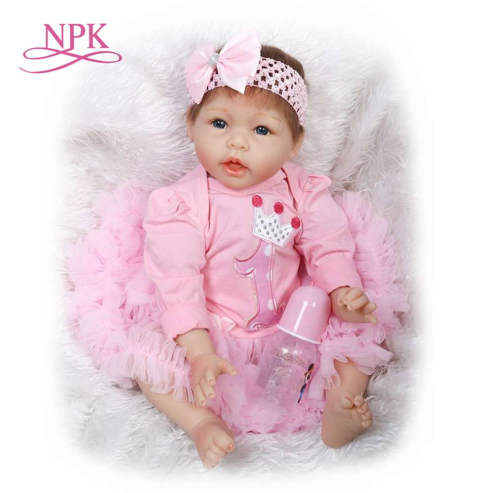 NPK reborn doll with soft real gentle touch lifelike Newborn baby doll educational toys sweet doll good for baby girls