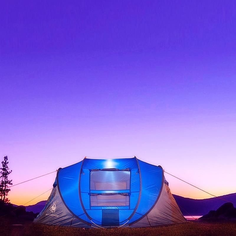 Grand espace Pop Up jeter tente extérieure 3-4 personnes tentes automatiques imperméable tentes de plage étanche famille Camping randonnée tentes - 4