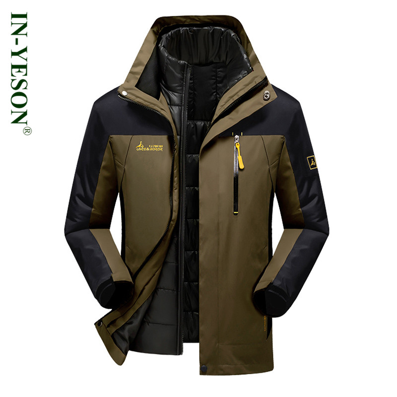 Enjeolon Brand winter Cotton Padded hoody Jacket Men thick hoodies Parka coat male Quilted winter jacket
