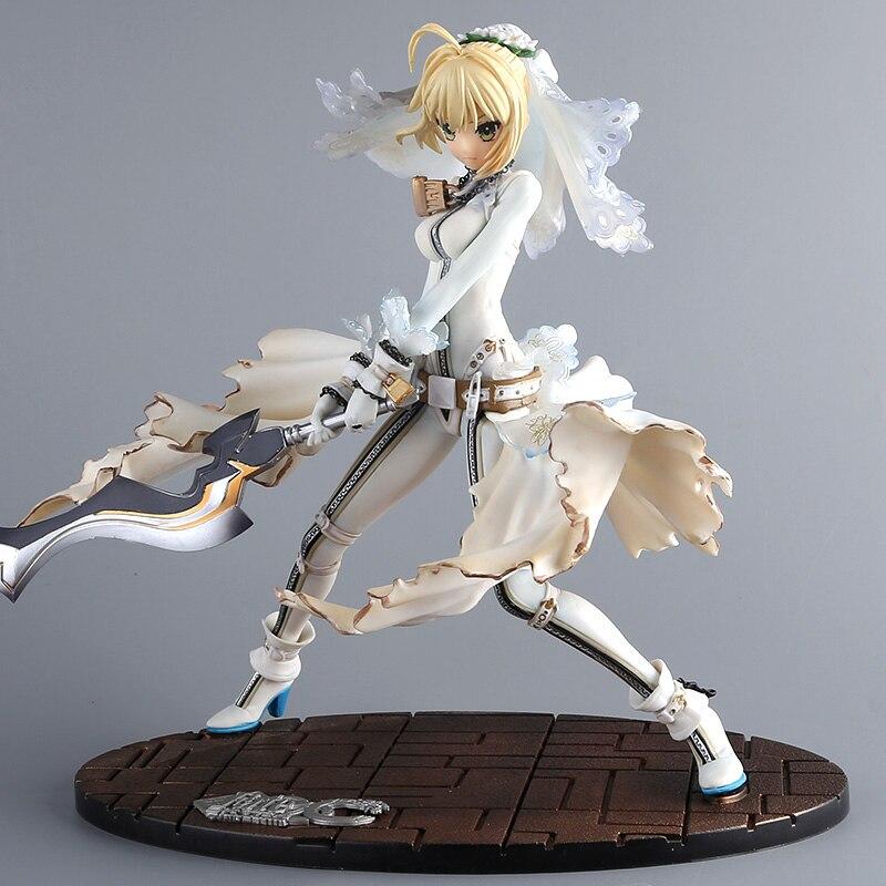 23 cm Anime destin/séjour nuit cgc EXTRA CCC robe blanche sabre mariée figurine modèle Collection destin nuit fille Figure poupée nouveau