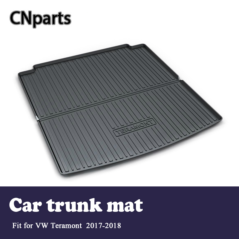 CNparts Car Cargo Liner Rear Trunk Mat For Volkswagen VW Teramont 2017 2018 Boot Waterproof Carpet Anti-slip Mat Accessories