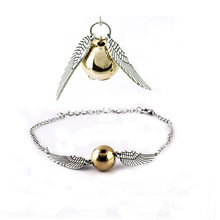 Fashion New Silver And Golden Imitation Pearl Angel Wings Jewelry Peace Bracelet Necklace Jewelry Sets(China)
