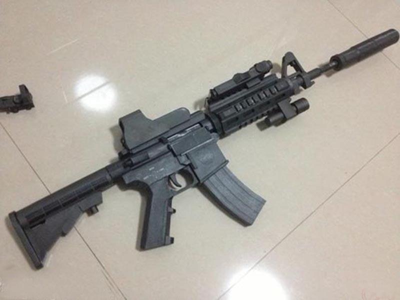 85cm DIY Paper Model  M4a1 Assaults Gun  3D Paper Craft Can Not Launch Handmade Toy For Boy Girl Gift