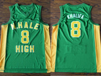 Wiz Khalifa #8 N. Hale Mac Devin Go to High School Throwback Basketball Jersey Embroidery Stitched Customize any name and number