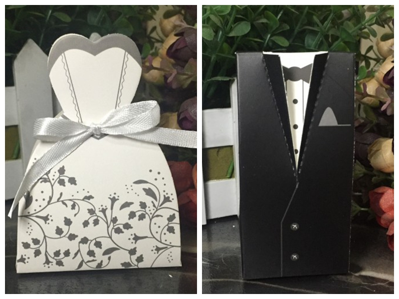 200pcslot100pairs Traditional Bridal Shower Favor Candy Box Of