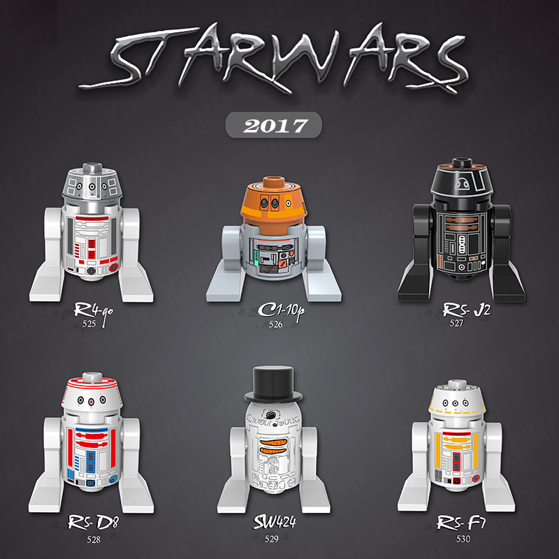 Single sale Star Wars Classic R2D2 R4-90 C1-10p R5-D8 SW424 R5-F7 LEPIN Figures DIY Blocks model & building toys rubineta star p 12 c 20см