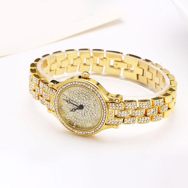 Crystal Decorated Watch for Women