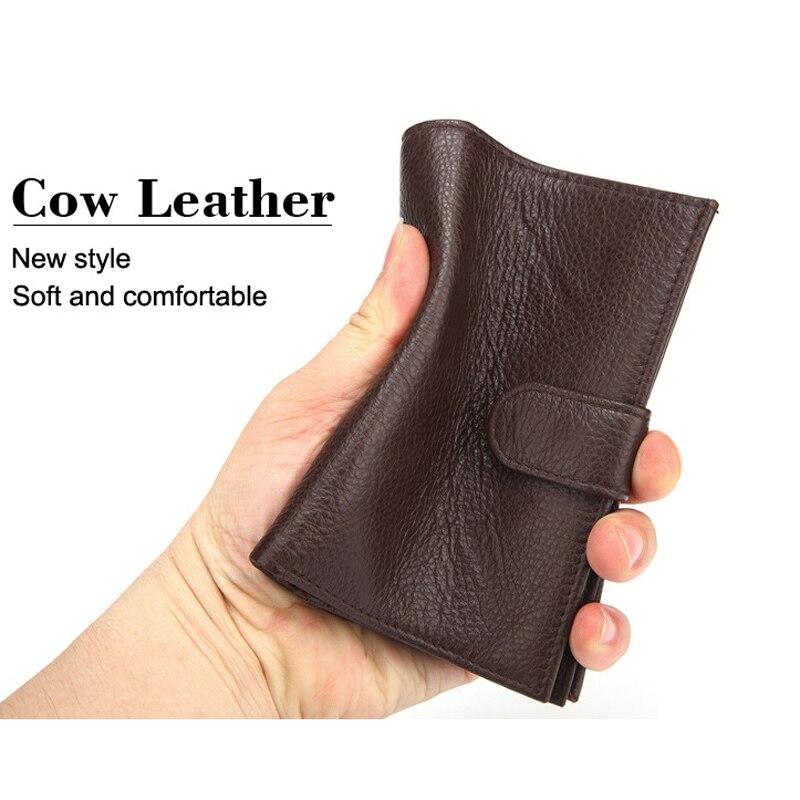Nouveau mode affaires hommes certificat sac portefeuilles vache en cuir véritable court portefeuille passeport portefeuille marque de luxe carte d'identité détenteurs