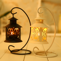 Classical Wrought Iron Candle Stand Holder Hanging Vintage Candlestick Home Decor European Wedding Craft Furnishing Articles