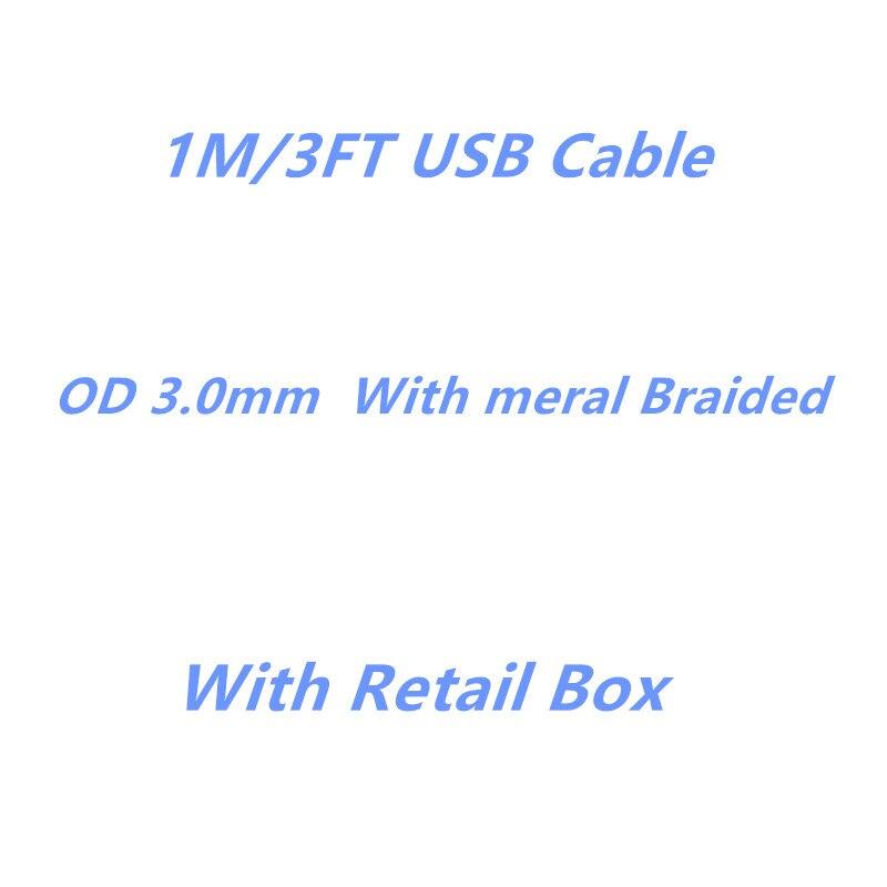 imágenes para 100 unids, FULCOL AAAA Calidad De la Fábrica 1 m/3FT OD 3.0mm Cable de Datos USB Para 5S 6 6 s 7 más la caja de embalaje Al Por Menor