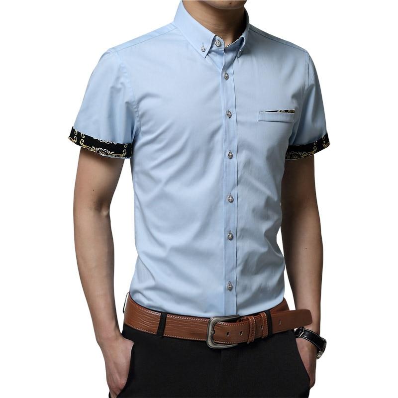 Sinnvoll Yg6156-a1275 2017 Sommer Business Casual Jugend Han-ausgabe Männer Tragen Kurzen ärmeln Shirt Billig Wholesale Hochwertige Materialien Hemden