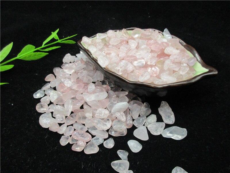 En gros naturel rose cristal cristal pierre gravier spécimen Aquarium gravier décoration - 2