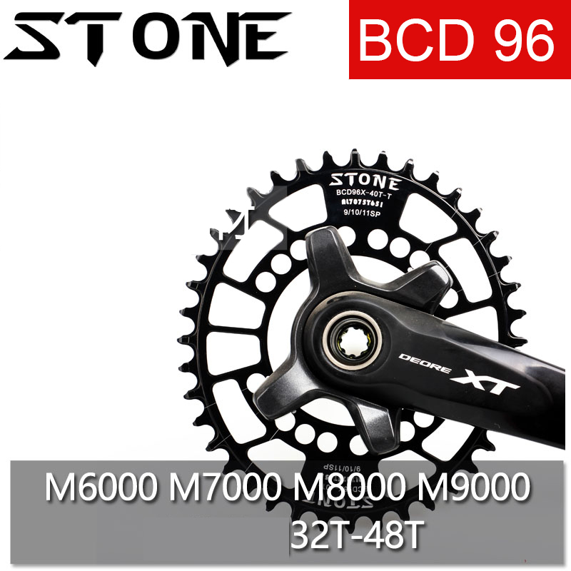 Stone 96 BCD Oval Chainring for Shimano M6000 M7000 M8000 M9000 32t 34 36 40 42 44 48T Bike Chainwheel Bicycle Tooth Plate 96bcd