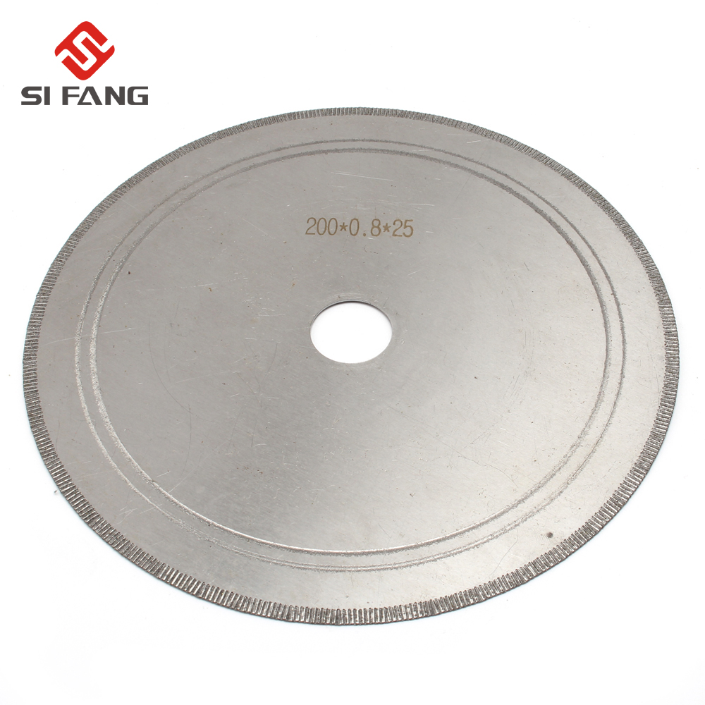 200mm 8inch Super-Thin Diamond Saw Blades Lapidary Cutting Disc Saws Jewelry Tools Straight Slice