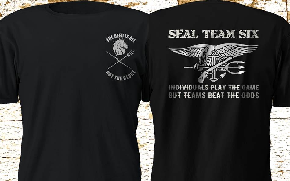 Navy Seal Red Tribe T-Shirt Blk Tan Navy Grey Red Squadron DEVGRU SEAL TEAM 6