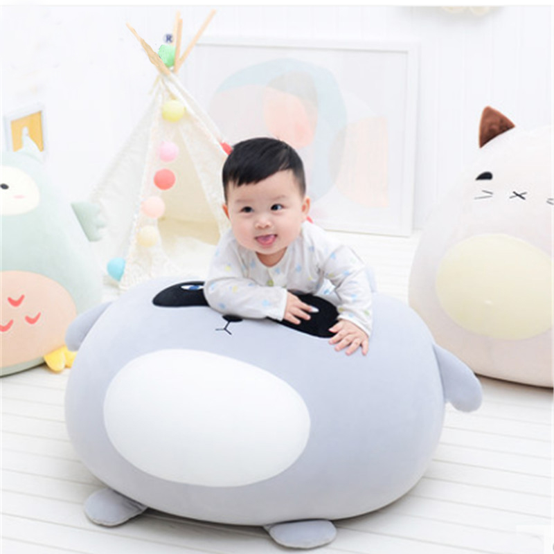 Us 109 02 21 Off Fancytrader Particle Stuffed Soft Kids Chair Cushion Big Round Animals Penguin Pig Bear Owl Cat Sofa Toys Doll In Movies Tv From