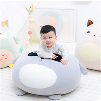 Fancytrader Particle Stuffed Soft Kids Chair Cushion Big Round Animals Penguin Pig Bear Owl Cat Sofa Toys Doll