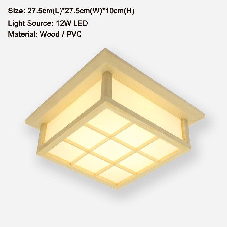 Moderna četverokutna ploča od hrastovog drveta, PVC drvena stropna - Unutarnja rasvjeta - Foto 3