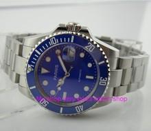 40MM PARNIS  Japanese Automatic Self-Wind movement Ceramic bezel Sapphire Crystal luminous men's watch Mechanical watches G21