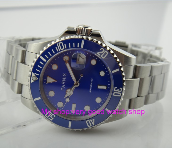 40MM PARNIS  Japanese Automatic Self-Wind movement Ceramic bezel Sapphire Crystal luminous men's watch Mechanical watches G21 виниловая пластинка сборник andrew hillblack fire lp
