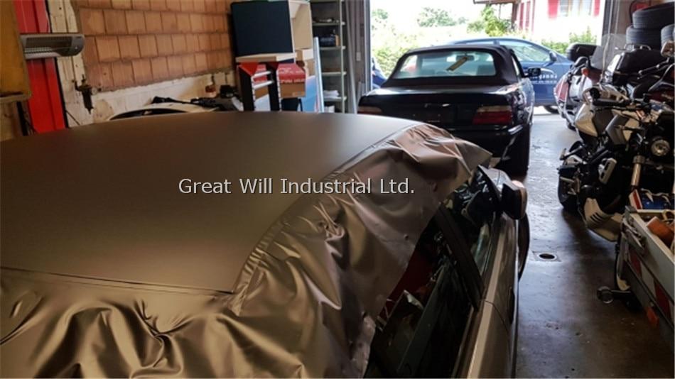 Бронзовая атласная Хромовая виниловая пленка, матовая, антрацит, металлическое покрытие для автомобиля, Стилизация, Размер 1,52x20 м/рулон