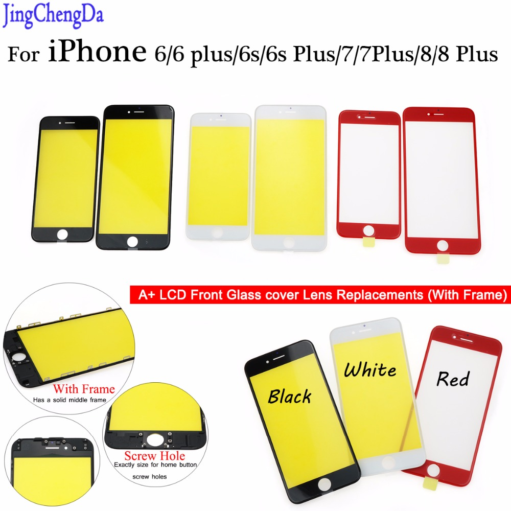 JCD For iPhone 6 6s plus 7 8 plus Touch Screen LCD Front Touch Panel Glass Outer Lens Screen Digitizer 4.7 / 5.5 inch image