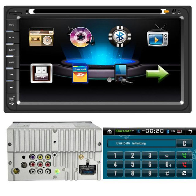 TOP Quility Big Display 6.95 polegadas Duplo 2DIN No Traço GPS Navi Carro DVD Player Bluetooth Radio Stereo Auto Rádio FM #1209