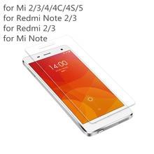 2.5D 0.3 мм 9 H Премиум Закаленное Стекло для Xiaomi Redmi 2/Редми примечание 2 Примечание 3/Mi3/Mi4 Mi5 Экрана Телефона Протектор фильм