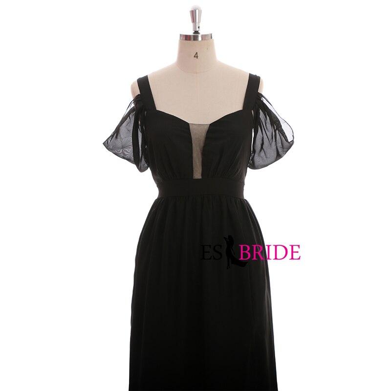 Black Simple Evening Dresses Long Women Elegant Formal Evening Dress Lace Mermaid Wedding Guest Dress Party Wedding Gown ES1672 in Evening Dresses from Weddings Events