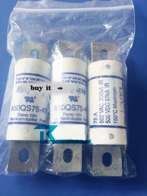 NOUVEAU A50QS50-4Y A50QS50 50QS50-4Y 500 V 75A fusible fusible rapideNOUVEAU A50QS50-4Y A50QS50 50QS50-4Y 500 V 75A fusible fusible rapide