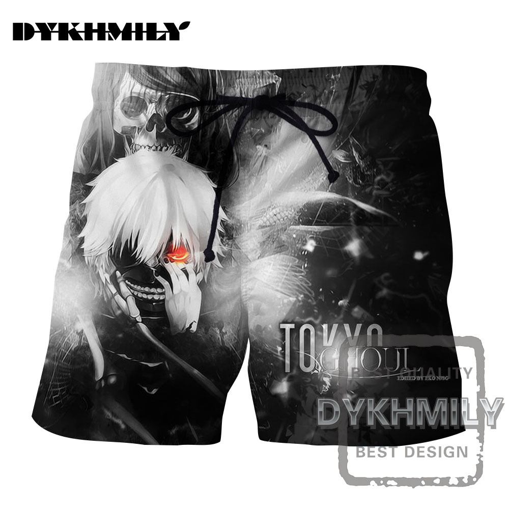 Helpful Dykhmily 2017 Summer New Fashion Tokyo Ghoul Masks Silver Hair 3d Print Board Shorts Men Popular Soild Cool Short Pants Hip Hop Men's Clothing