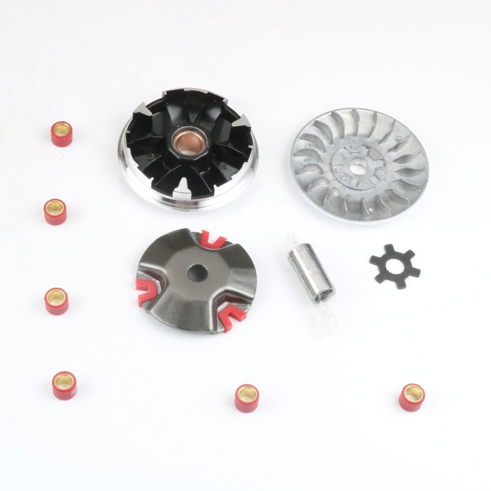 US $6 85 |Performance 18mm Variator Set w / 4 5g 8g for YAMAHA AEROX 50  BW'S JOG R RR NEO'S SLIDER WHY ZUMA 50cc 2T-in Engine Cooling & Accessories