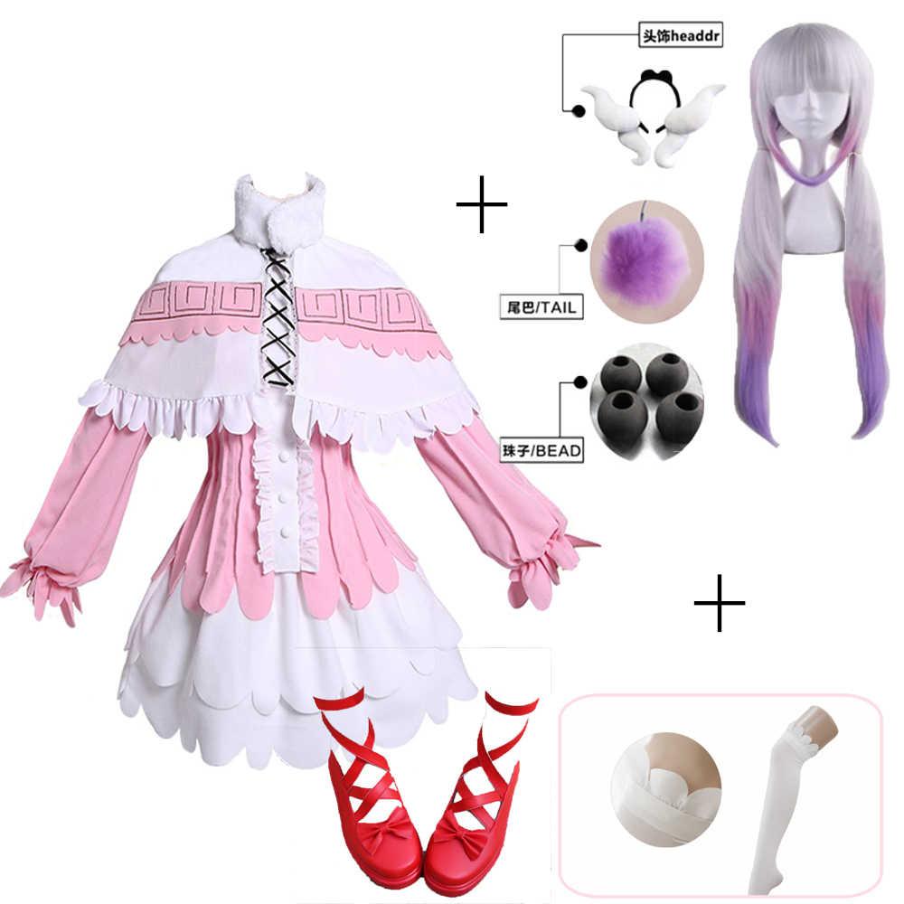 Kanna в стиле японского аниме Miss Kobayashi's Dragon Maid Kamui Косплей Канны костюмы для Хэллоуина Kawai платье для женщин парик