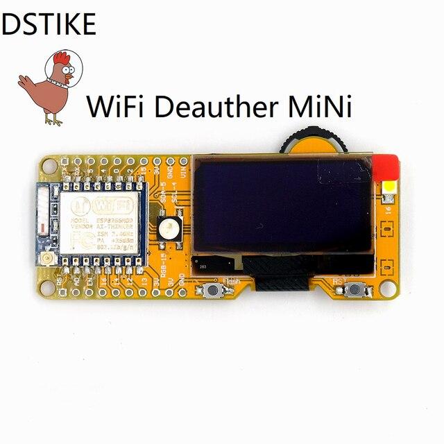 DSTIKE WiFi Deauther MiNi WiFi Hack Attack ESP8266 development board NodeMCU ESP07 with 2db antenna cp2102 battery charging LED