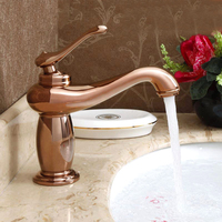 Free shipping,Luxury European design gold copper bathroom basin faucet cold and hot bathroom water mixers taps