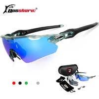 3 lentilles lunettes de cyclisme lunettes de soleil polarisées Sport randonnée lunettes équitation vélo vtt vélo lunettes UV400 TR90 lunettes de soleil de pêche