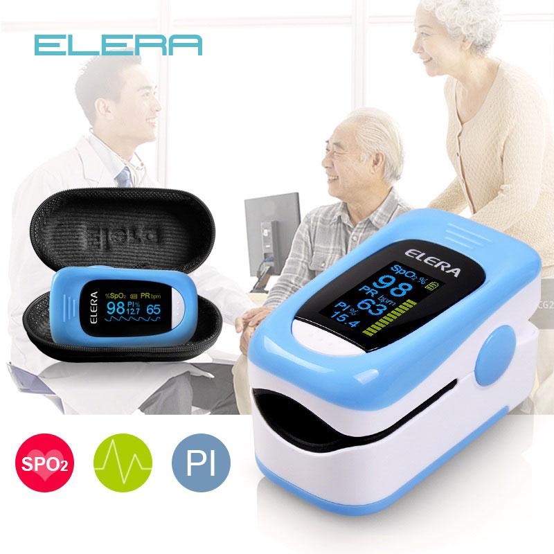 ELERA Newest Finger Pulse Oximeter Data Record Oximetro  SPO2 PR PI Blood Oxygen 8 Hour Sleep Monito Handheld Pulse Oximeter