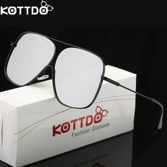 32f605d39d KOTTDO 2018 moda Metal cuadrados gafas de sol para las mujeres hombres gafas  marco grande Retro