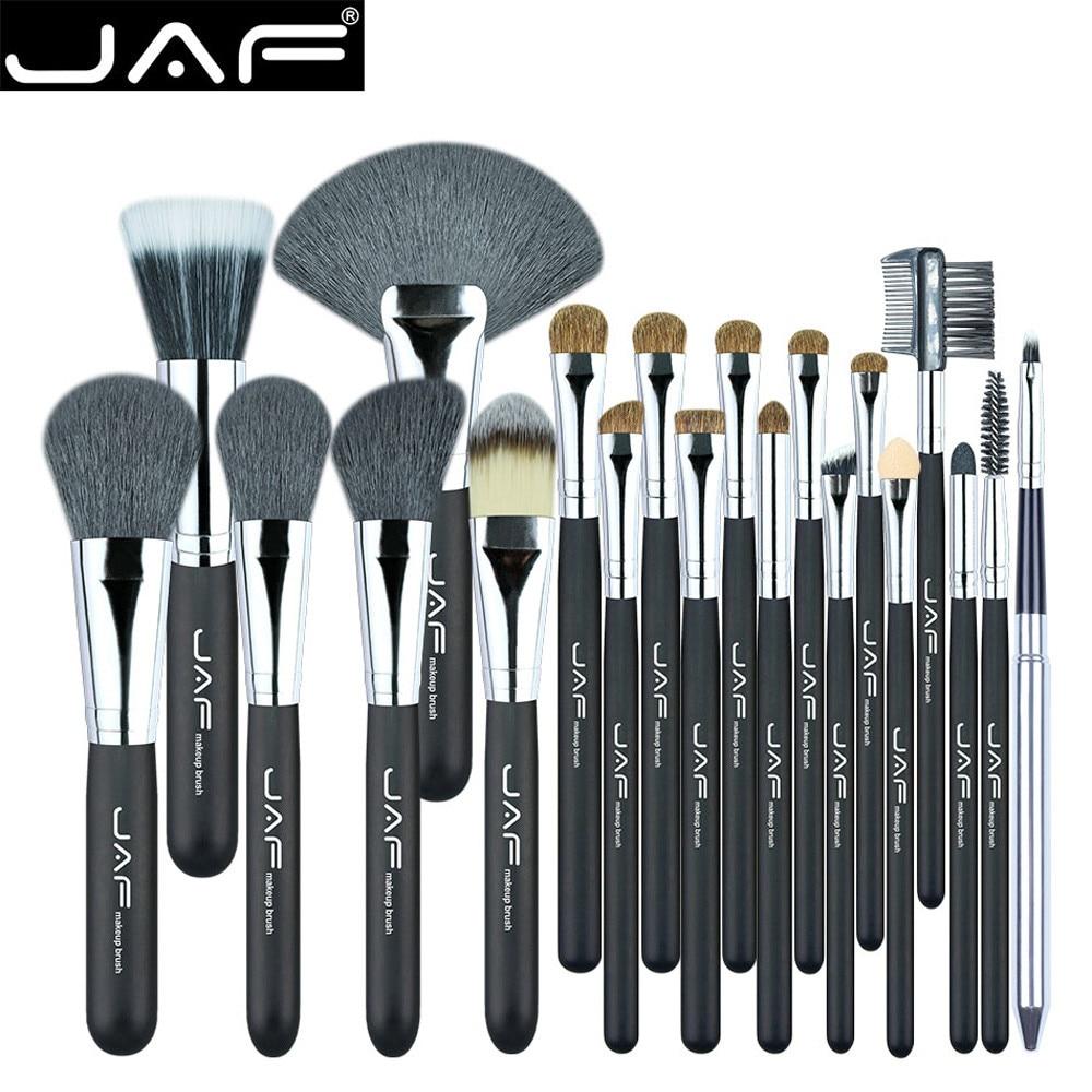 JAF 20 Pcs/Set Brushes for Face Eye Lip Makeup Natural Hair Makeup Brush Set Professional Make Up Tools Kits Face Blending Brush