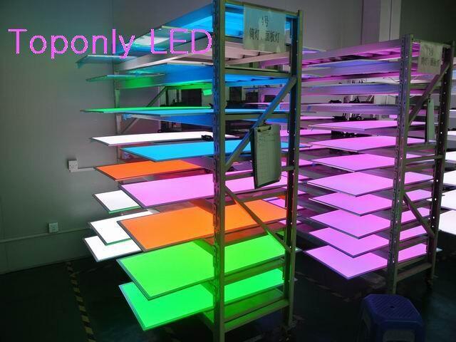 36 Вт светодио дный rgb светодиодные панели 60x60 см + RF пульт дистанционного управления + AC100 240v адаптер питания embeded установка CE & ROHS 20 шт./лот DHL Бе